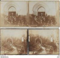 52 - CHAUMONT - LOT 2 PHOTOS Sur CARTON - 12.5X6  -  GRAND PARDON - REPOSOIR SAINTE THERESE - EGLISE SAINT JEAN-BAPTISTE - Chaumont