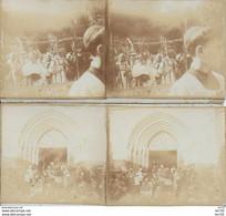 52 - CHAUMONT - LOT DE 2 PHOTOS Sur CARTON - 12.5X6  -  GRAND PARDON - M GINISTY EVEQUE DE VERDUN - 24/06/1928 - Chaumont