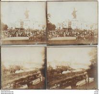52 - CHAUMONT - LOT DE 2 PHOTOS Sur CARTON - 12.5X6  -  GRAND PARDON - Chaumont