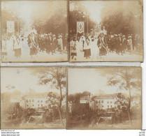 52 - CHAUMONT -  LOT DE 2 PHOTOS Sur CARTON - 12.5X6 - GRAND PARDON - PROCESSION - Chaumont