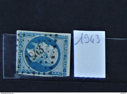 11 - 20 // France N° 14 - Oblitération PC 1943 - Mazamet - Tarn - 1853-1860 Napoleon III