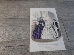 Gravure De Mode Le Conseiller Des Dames Et Demoiselles Communion Communiant Et Communiante  1857 - Imágenes Religiosas