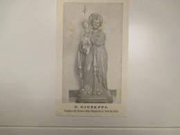 S.GIUSEPPE Protettore Del Ricovero Della Provvidenza In Torre Del Greco - Devotion Images
