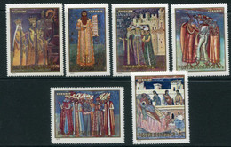 ROMANIA 1970 Monastery Frescoes MNH / **  Michel 2856-61 - Nuevos