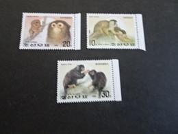 K45002-   Set MNH Korea 1992 - Apes - Monkeys - Scimmie