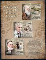 GUINEE THEME SCIENCES N°6328 / 6330 SCIENTIFIQUES DARWIN / FLEMING / PASTEUR QUI ONT DEFINI L'HISTOIRE DU MONDE - Louis Pasteur