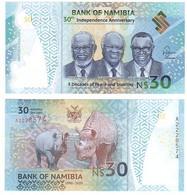 Namibia - 30 Dollars 2020 UNC Polymer Comm. Lemberg-Zp - Namibië