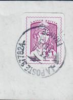 YT AA 1177A  Adh Fragment Marianne De Ciappa-lettre Suivie-cachet Rond-fragment - 2013-... Marianne (Ciappa-Kawena)
