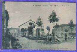 Carte Postale 31. Montastruc  Place D'Orléans Et Halle Aux Grains Très Beau Plan - Montastruc-la-Conseillère