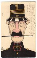 1904 Illustrateur Gustave De LION : Un COMMANDANT Du GENIE Moustachu - Umoristiche