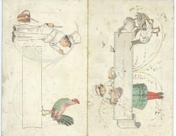 MENU DE 1889 PLIANT - Menus