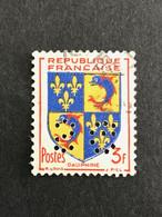 FRANCE S N° 954 Armoirie SG 95 1953 Perforé Perforés Perfins Perfin Superbe !! - Gezähnt (Perforiert/Gezähnt)