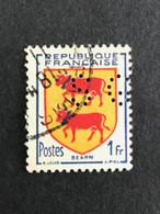 FRANCE S N° 901 Armoirie SG 95 Perforé Perforés Perfins Perfin Superbe !! - Gezähnt (Perforiert/Gezähnt)