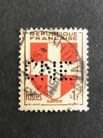FRANCE C N° 836 Armoirie CNE 310 Perforé Perforés Perfins Perfin Superbe !! - Gezähnt (Perforiert/Gezähnt)