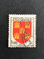 FRANCE C N° 952 Armoirie C.A 17 Indice 2 Perforé Perforés Perfins Perfin Superbe !! - Gezähnt (Perforiert/Gezähnt)