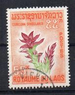 LAOS - KINGDOM - ROYAUME - 1967 - FLEUR - FLOWER - CURCUMA SINGULARIS - Oblitéré / Used - - Laos