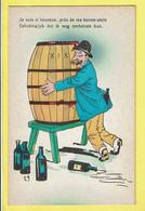 * Fantaisie - Fantasy (humour - Humor) * (29) Ivrogne, Dronkaard, Soulard, Vin, Alcoolique, Tonneau, Vat, Old - Humor