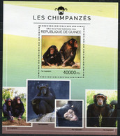GUINEE THEME FAUNE PRIMATES BF 1692 CHIMPANZES - Chimpanzees