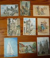Lot De 9 CPA Et CPSM  Barday Dont Illustrateurs Bonnefoy M.Barré Et J.Dayez - Ohne Zuordnung