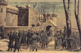 CPA 80 @ HAM - Sortie Des Troupes Allemandes Du CHATEAU Après Leur Reddition Le 9 Décembre 1870 - Ham