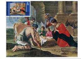 KINGSTON 31 Mars 1971 Carte Maximum Noël Nativité Religion Christmas - St.Vincent (...-1979)
