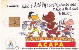 NEW CALEDONIA - Cartoon, ACAPA, With Number On Reverse, Tirage 1000, 11/94, Used - Neukaledonien