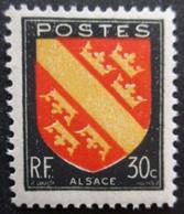 FRANCE Armoirie D'Alsace N°756 Neuf ** - 1941-66 Wappen