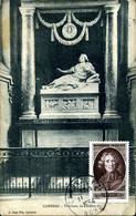 FENELON CAMBRAI 1954 Carte Tombeau De Fénelon Carte Ayant Voyagé Avec Papier Collé Pour L'adresse + 12F Gandon Même Date - 1950-59