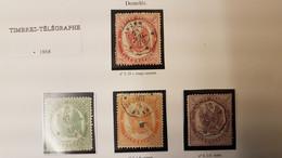 France - TimbreS Télégraphe Empire (1868 ) N°5/6/7 Et 8 - Telegrafi E Telefoni