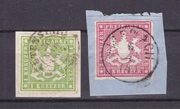 Wuerttemberg - 1865 - Michel Nr. 30/31 - Briefst. - Wuerttemberg