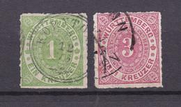 Wuerttemberg - 1869/72 - Michel Nr. 36/37 - Gestempelt - Wuerttemberg