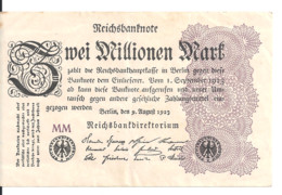 ALLEMAGNE 2 MILLION MARK 1923 VF+ P 104 - 2 Millionen Mark