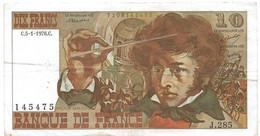 Billet De 10 Francs 1976, Type Berlioz - 10 F 1972-1978 ''Berlioz''