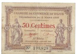 50 Centimes, Chambre De Commerce De Dijon (21), 1916 - 10 F 1972-1978 ''Berlioz''