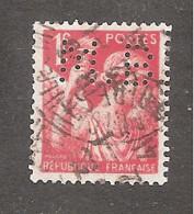 Perforé/perfin/lochung France No 433  M.B Sté Des Mines De Houille De Blanzy - Perforadas