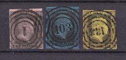 Preussen - 1850/51 - Michel Nr. 2/4 - Gestempelt - 60 Euro - Preussen