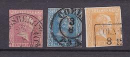 Preussen - 1858 - Michel Nr. 10/12 - Gestempelt - 47 Euro - Preussen