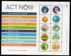 San Marino 2020 ACT NOW - Sostenibilità Ambientale 1v  Complete Set ** MNH - Ungebraucht