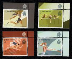 San Marino 2020 Campionati Di Atletica Dei Piccoli Stati D'Europa 4v Complete Set ** MNH - Unused Stamps