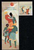 San Marino 2020 Campionato Europeo Di Calcio 1v Con Bandella Complete Set ** MNH - Ungebraucht