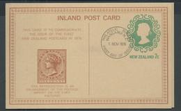 New Zealand 1976 Inland Post Card Anniversary Issue CTO FDI - Storia Postale