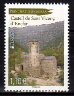 2017 Andorra French Europa CEPT Castles Castles Sant Vicenç D'Enclar MNH** MiNr. 817 - 2017