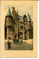 75004 PARIS - Hôtel De Sens - 1 Rue Du Figuier - Joli Dessin Aquarellé Sur Canson - District 04