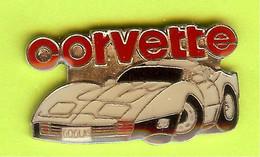 Pin's Automobile Corvette Blanche - 9H26 - Corvette