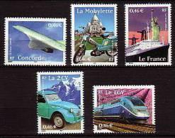2002-N° 3471/3475** LES TRANSPORTS - Nuovi
