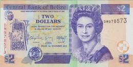Belize - Billet De 2 Dollars - Elizabeth II - 1er Novembre 2014 - P66e - Neuf - Belize