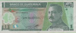 Guatemala - Billet De 1 Quetzal - José Maria Orellana - 2 Mai 2012 - P115b - Polymère - Guatemala