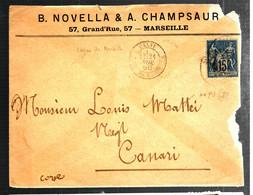 39296 - CALVI LIGNE DE MARSEILLE - 1877-1920: Periodo Semi Moderno