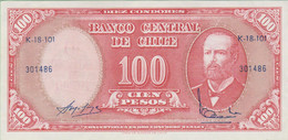 Chili - Billet De 100 Pesos Surchargé 10 Centesimos - Arturo Prat - Non Daté - P127a - Presque Neuf - Cile