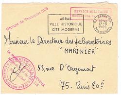ENVELOPPE EN FRANCHISE MILITAIRE INFIRMERIE DU GROUPE DE TRANSPORT 525 ARRAS - Militaire Stempels Vanaf 1900 (buiten De Oorlog)